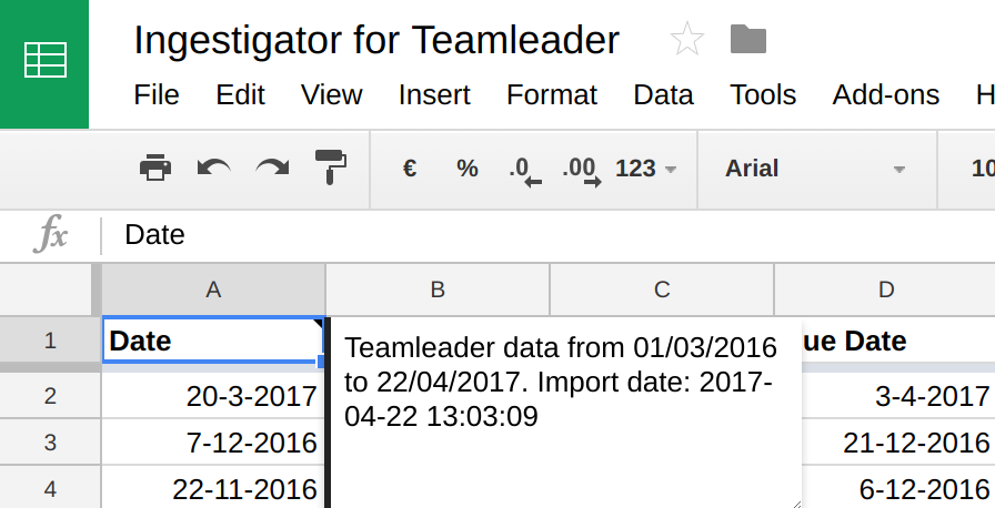 Ingestigator for Teamleader - How it works - Step 3